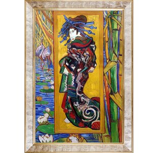'The Courtesan' by Vincent Van Gogh Framed Print by Tori Home