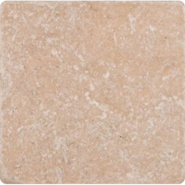 Tuscany Classic 4 x 4 Travertine Field Tile in Tumbled Beige by MSI