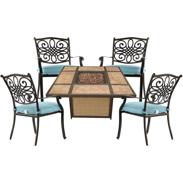 Gearhart 5 Piece Multiple Chairs Seating Group by Charlton Home