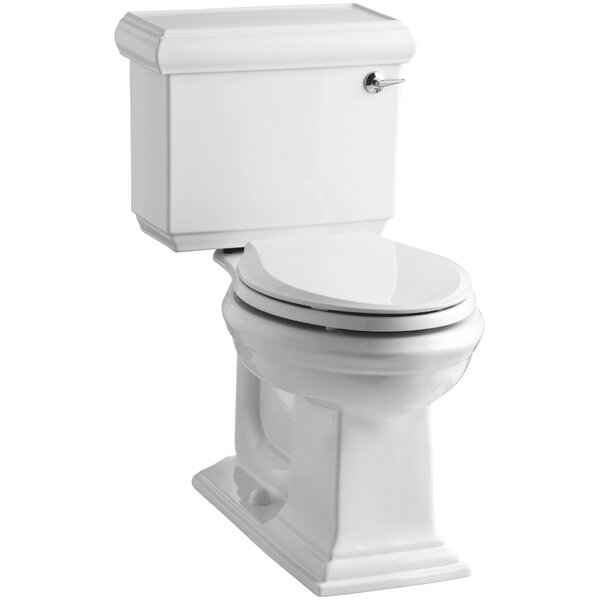 Memoirs Classic Comfort Height Two-Piece Elongated 1.28 GPF Toilet with Aquapiston Flush Technology and Right-Hand Trip Lever by Kohler