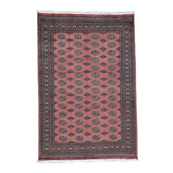 One-of-a-Kind Greaney Overdyed Vintage Hand-Knotted Salmon Area Rug by Bloomsbury Market