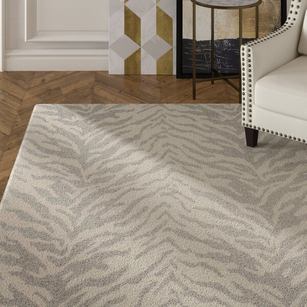 Kempston Hand-Woven Gray/Beige Area Rug by House of Hampton