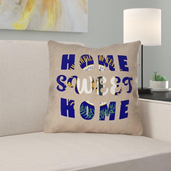 Fawcett Home Sweet Kentucky Pillow by Ebern Designs