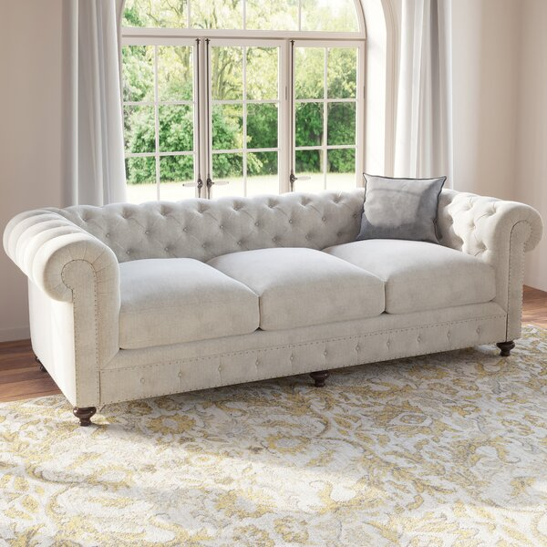 Panos 98 Inches Rolled Arms Sofa By One Allium Way