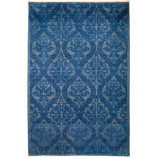 One-of-a-Kind Debora Hand Knotted Wool Blue Area Rug by Isabelline