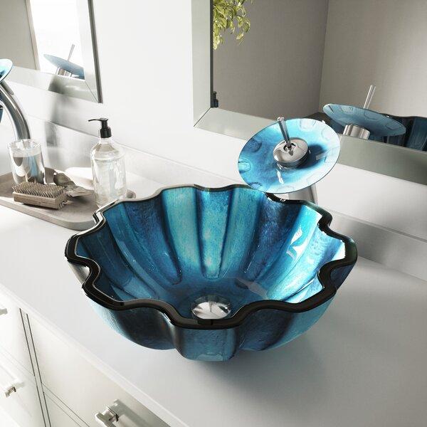 Sinks Glass Circular Vessel Bathroom Sink by VIGO
