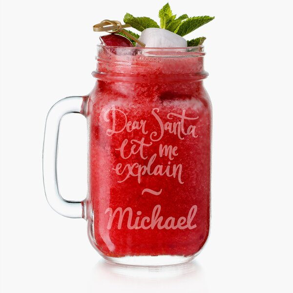 Personalized Dear Santa 16 oz. Mason Jar by Monogramonline Inc.
