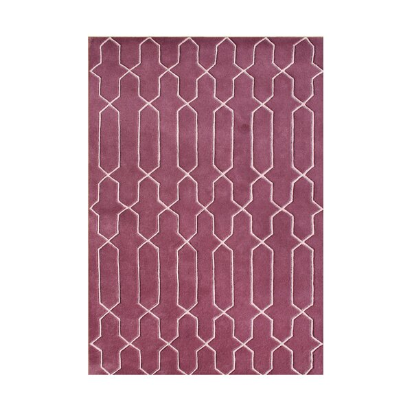 Welches Hand-Tufted Dark Red Area Rug by The Conestoga Trading Co.