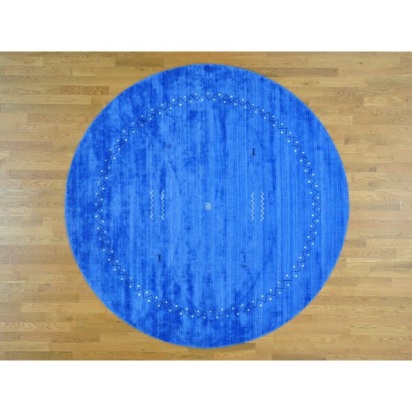 One-of-a-Kind Becker Handwoven Blue Wool/Silk Area Rug by Isabelline