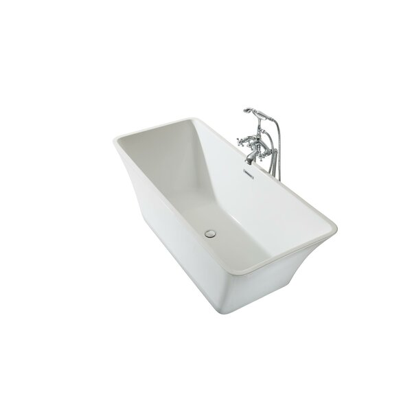Sedona Platinum 67 x 30 Freestanding Soaking Bathtub by Ariel Bath