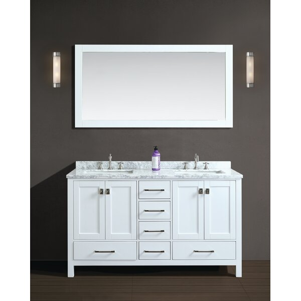Werth 60 Double Bathroom Vanity Set with Mirror by Brayden Studio