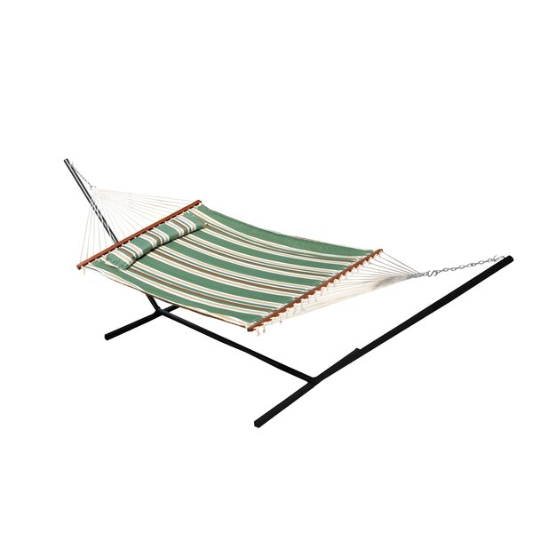 Chapman Double Quilted Reversible Cotton Camping Hammock by Breakwater Bay