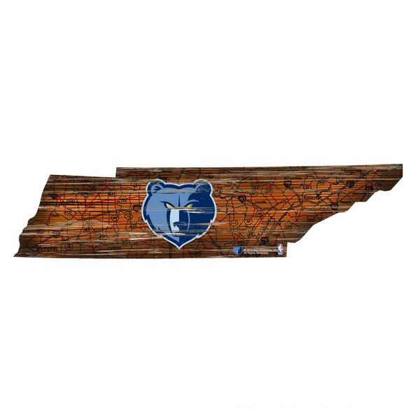 NBA Grizzlies Distressed State Wall Décor by Fan Creations