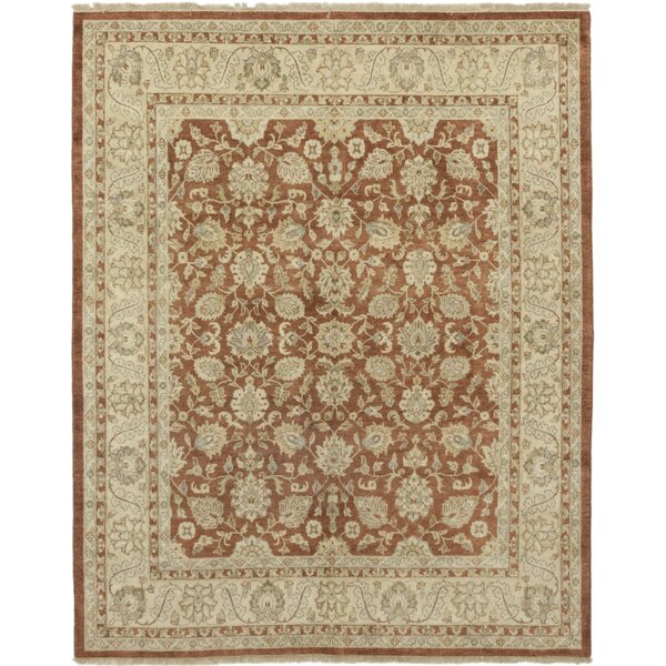 One-of-a-Kind Devan Hand-Knotted Wool Brown Indoor Area Rug by Isabelline