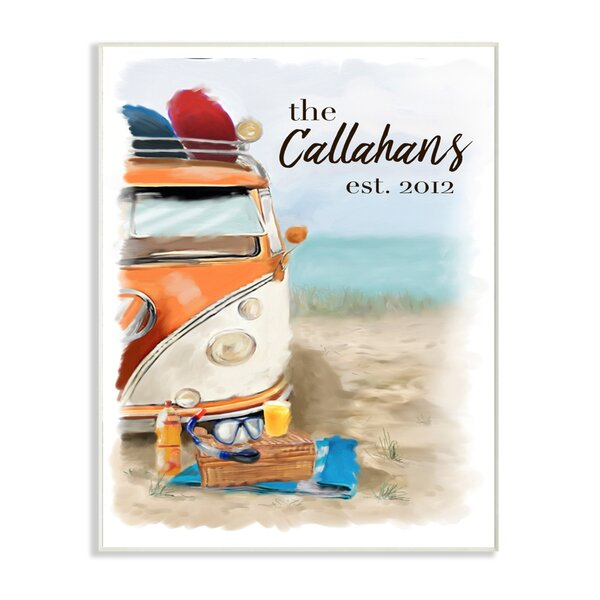 Personalized Beach Van Wall Plaque Art by Stupell Industries
