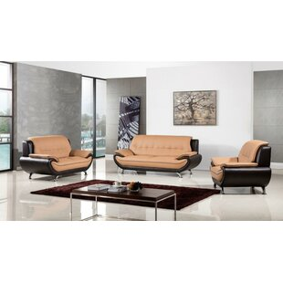 Kulp 3 Piece Standard Living Room Set by Orren Ellis