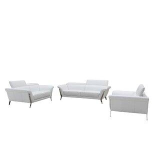 Cana Leather 3 Piece Living Room Set