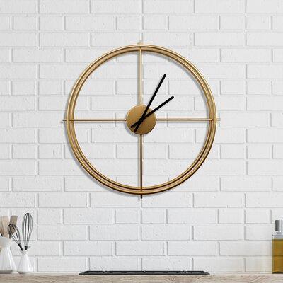 Orren Ellisarissa 20 Wall Clock Orren Ellis Finish Gold Size Small Dailymail
