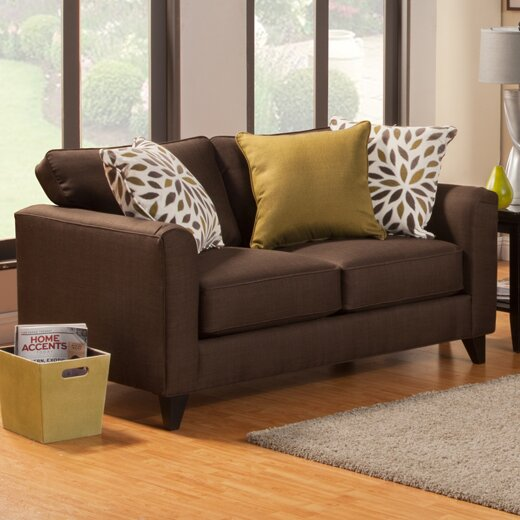 Amberley Contemporary Flared Arm Loveseat by Darby Home Co