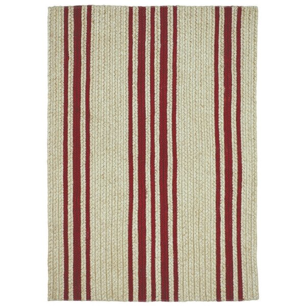 Baker Farmhouse Red/Beige Area Rug by Homespice Decor