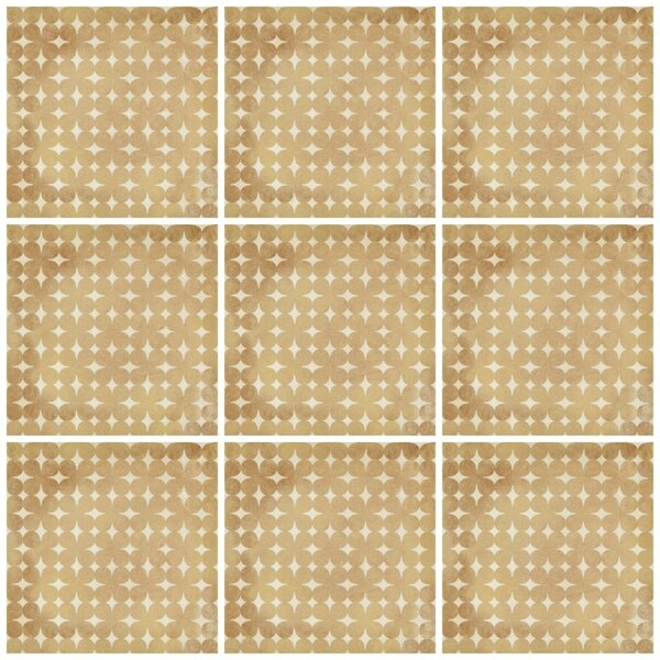 Design Evo 8 x 8 Porcelain Field Tile in Yellow by Travis Tile Sales