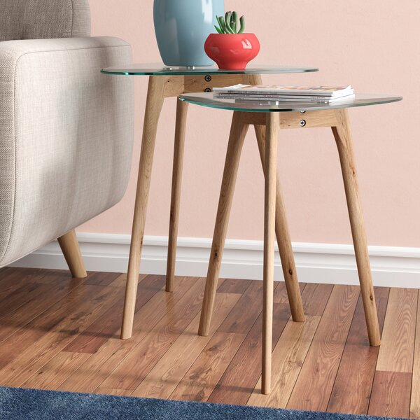 Courtlyn 2 Piece Nesting Tables by Ebern Designs