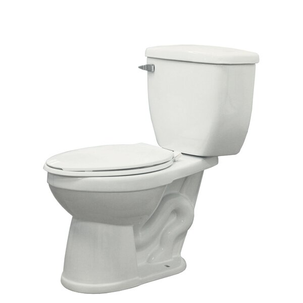 McKinley 1.28 GPF Elongated Two-Piece Toilet by Transolid