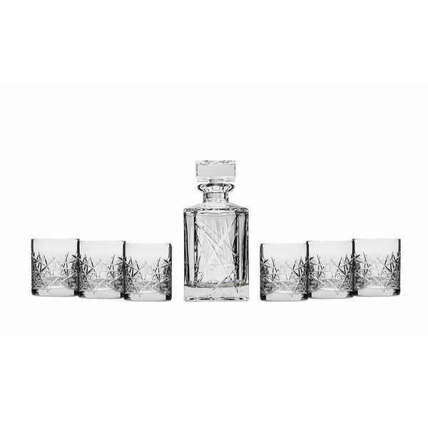 Ianthe Crystal Whisky 7 Piece Beverage Serving Set by Orren Ellis