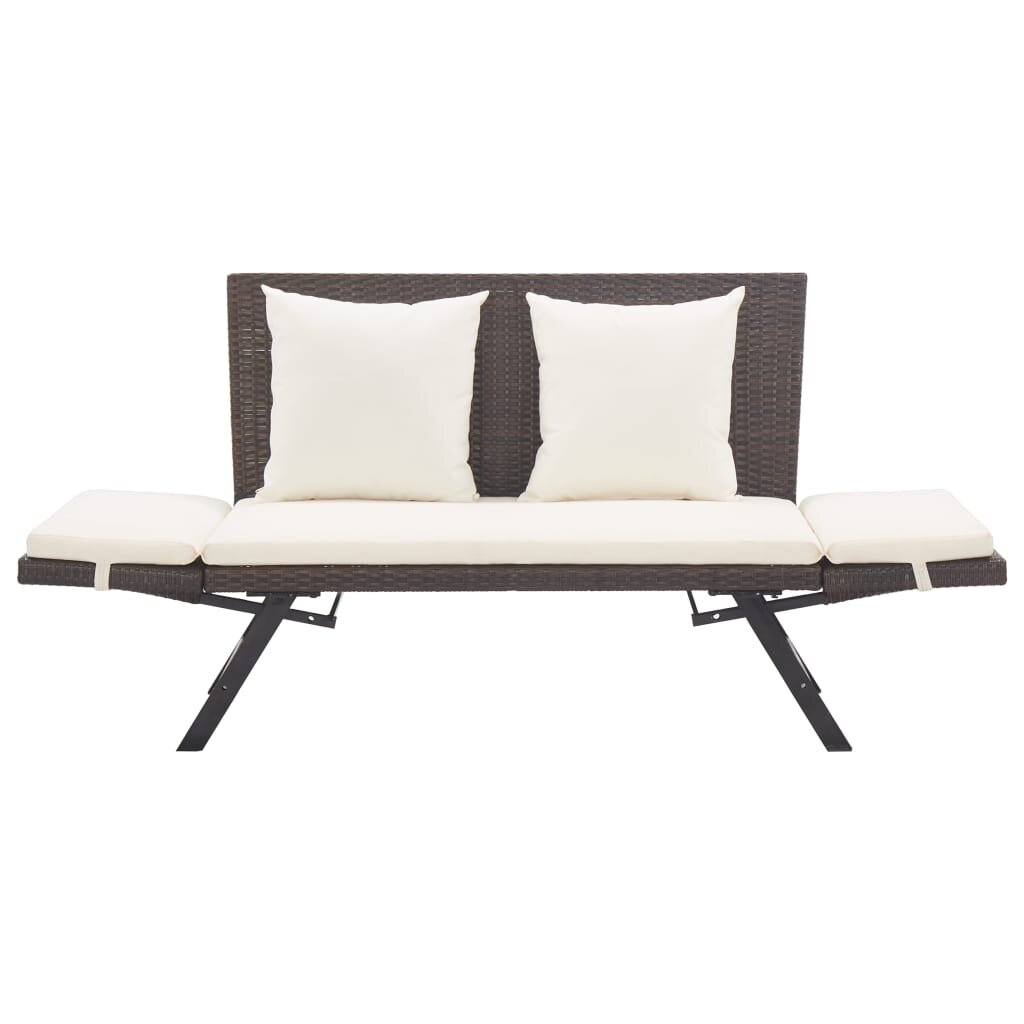 Latitude Run Eltje Rattan Garden Bench Wayfair