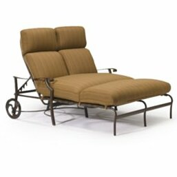Montreux Double Reclining Chaise Lounge with Cushion by Tropitone