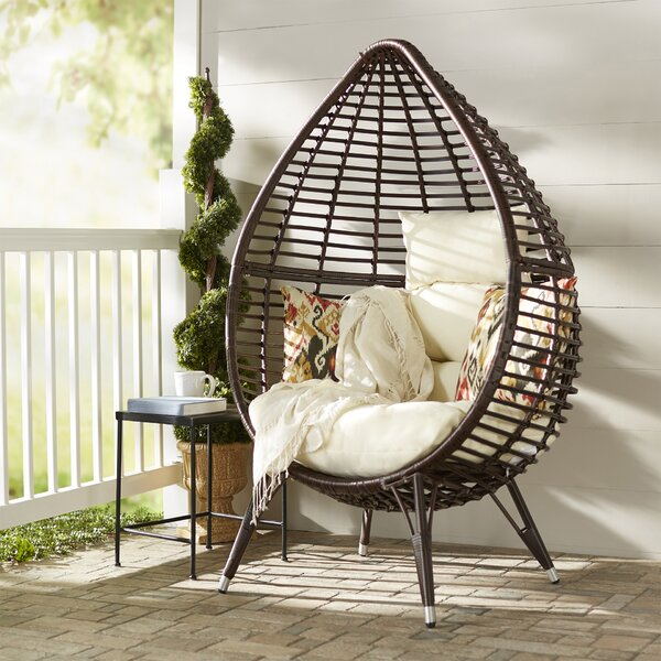 Teardrop Patio Chair with Cushions by Langley Street
