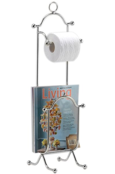 Freestanding Combination Magazine Rack and Toilet Paper Holder by Wildon Home ®