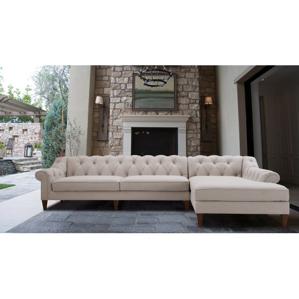 Cramden Tufted Sectional by Rosdorf Park