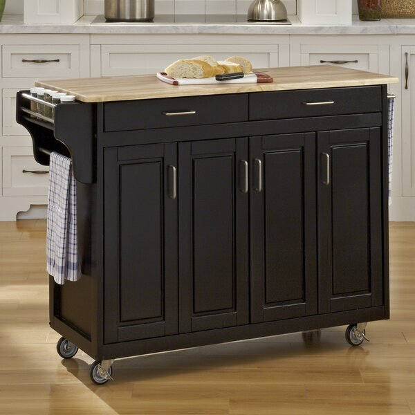 Stroman Kitchen Island With Natural Wood By August Grove Find