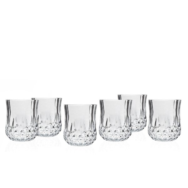 Harwich 7 oz. Crystal Every Day Glass (Set of 6) by Three Posts