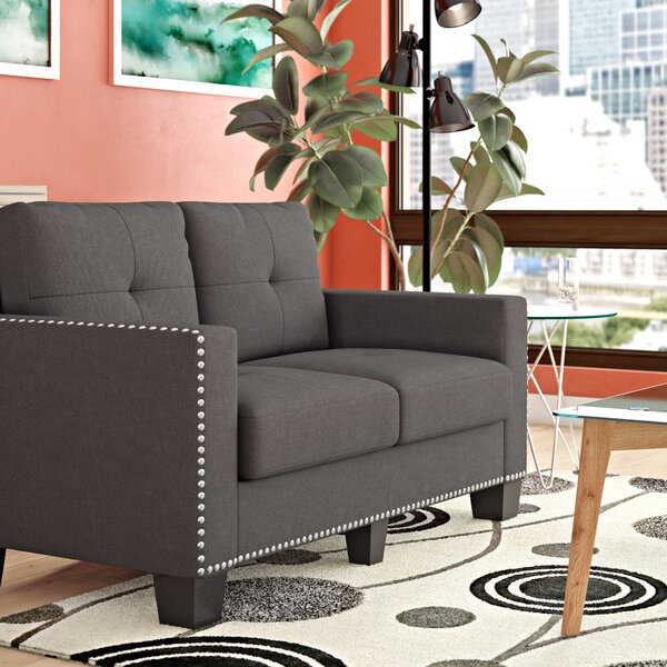 Fresh Collection Dilbeck Loveseat by Ebern Designs by Ebern Designs