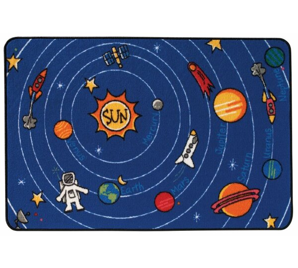 Spaced Out Kids Area Rug by Kids Value Rugs