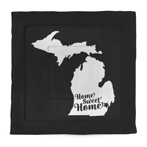 Home Sweet Detroit Single Reversible Comforter