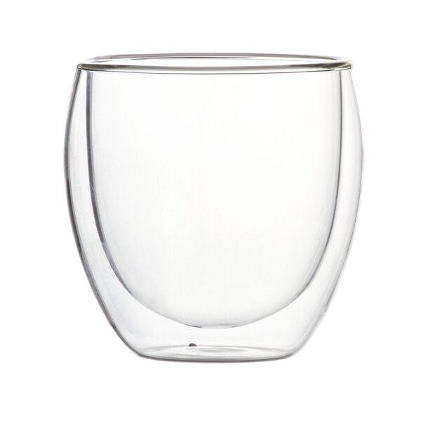 Calanna Modern Double Wall Glass Teacup (Set of 2) by Latitude Run