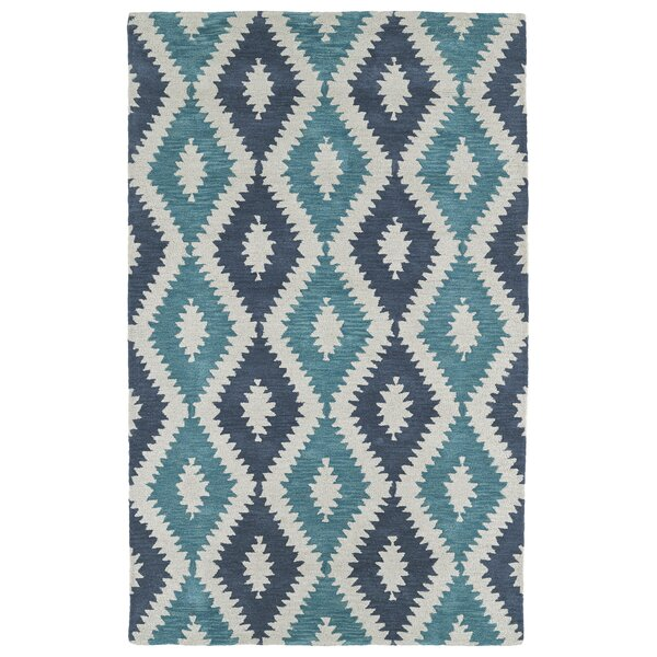 Hinton Charterhouse Hand-Tufted Turquoise Area Rug by Wrought Studio