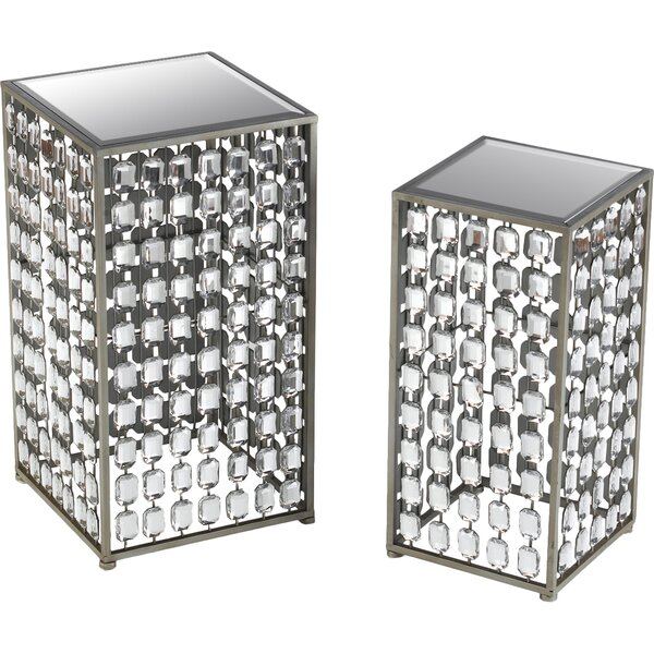 2 Piece End Table Set by AA Importing