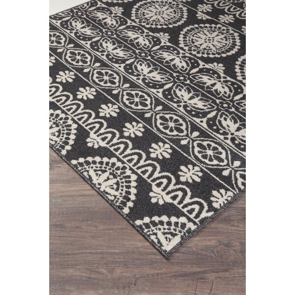 Grasser Black/White Area Rug by Bungalow Rose
