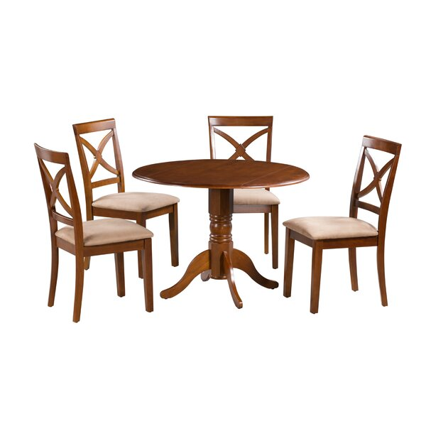 #2 Kaylee 5 Piece Drop Leaf Solid Wood Dining Set By Alcott Hill 2019 Coupon