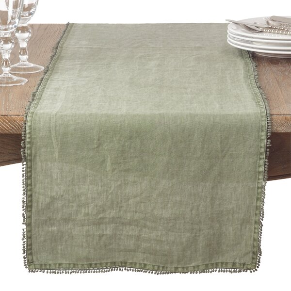 Isaure Country Linen Table Runner by Lark Manor