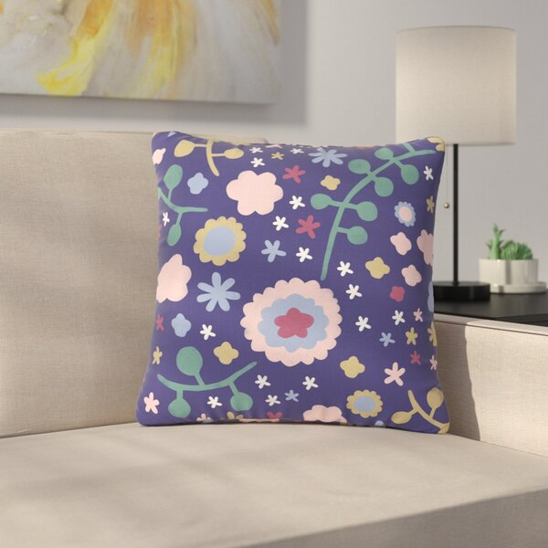 Alik Arzoumanian Morning Flowers Outdoor Throw Pillow by East Urban Home