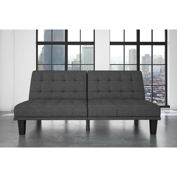 Haysi Futon Lounger Convertible Sofa By Wade Logan Savings