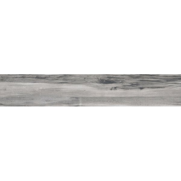 Theory 8 x 45 Porcelain Wood Look/Field Tile in Gray by Emser Tile