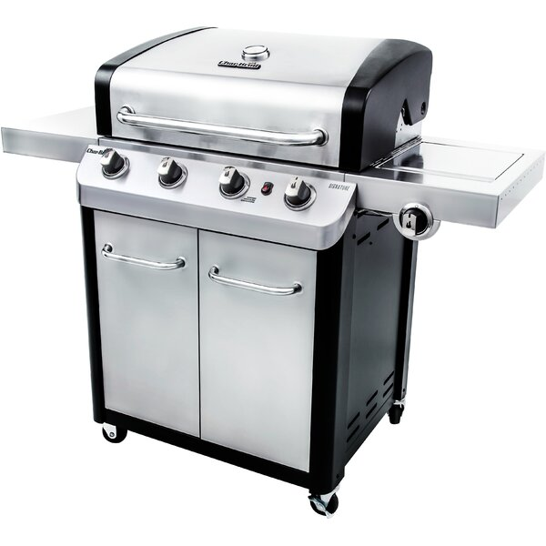 Signature 4-Burner Propane Gas Grill with Side Bur