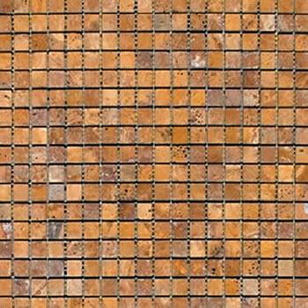 0.625'' x 0.625'' Travertine Mosaic Tile in Gold by Epoch Architectural Surfaces