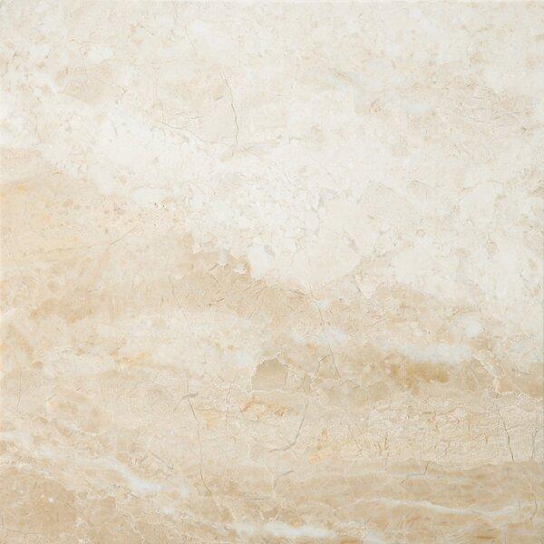 Marble 18 x 18 Field Tile in Milano Beige by Emser Tile
